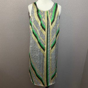 Dana Buchman Sleeveless Animal Print Striped Dress